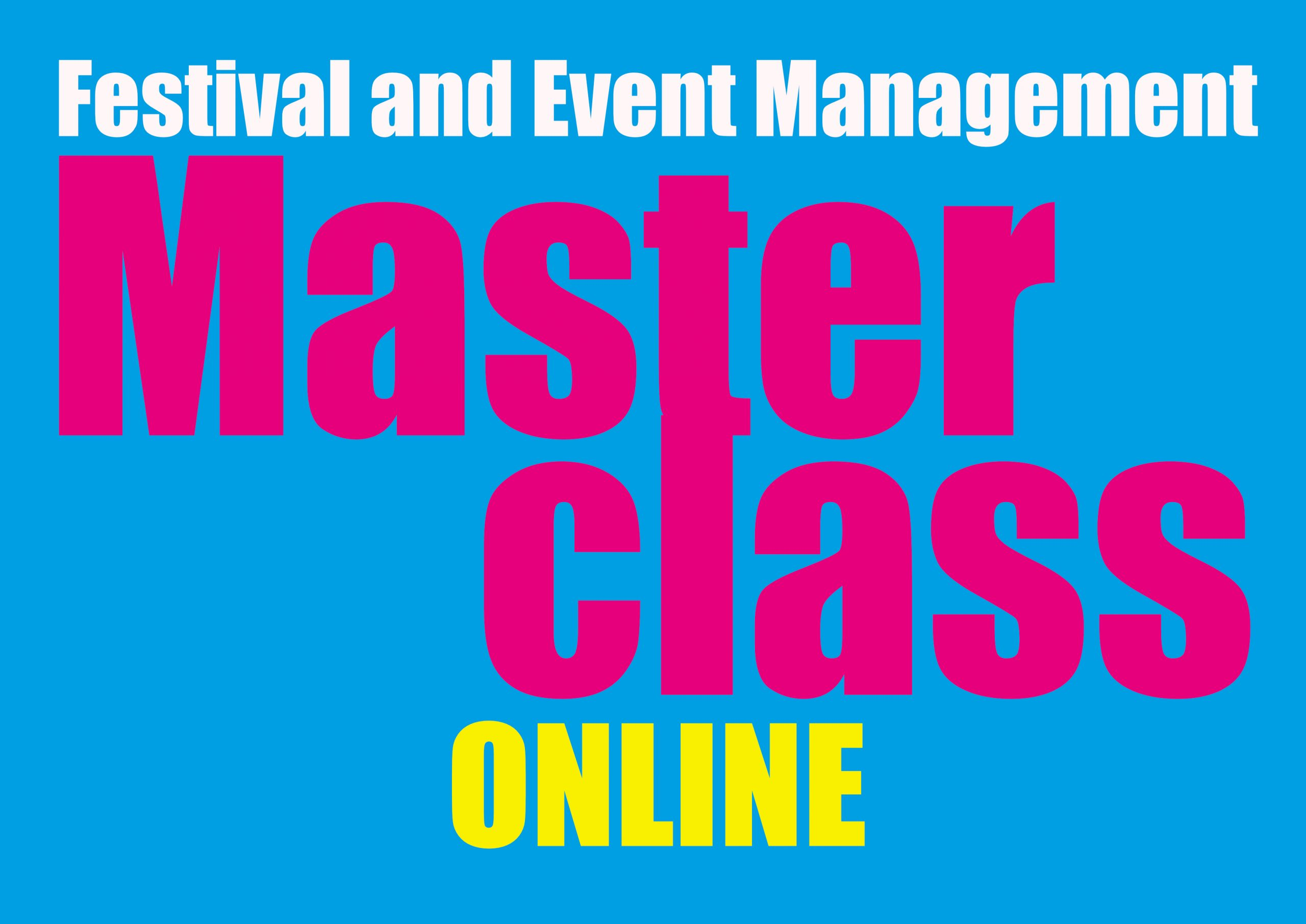 Online Festival and Event Management Masterclass - 12 October 2020